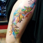 Falling Leaves tattoo
