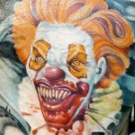 Feasting Evil Clown tattoo