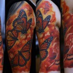 Fire of Passion realistic tattoo