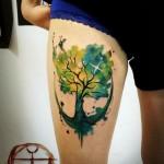 Fisheye Oak tattoo
