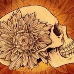 Flower Side Skull