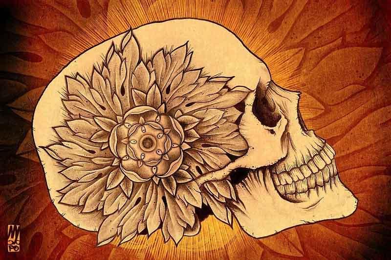 Flower Side Scull