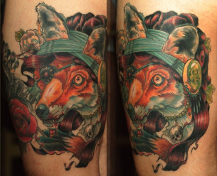 Fox Gipsy Witch traditional tattoo