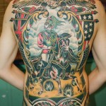 Full Back Cavalryman traditional tattoo
