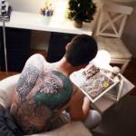 Full Back Chinese Dragon tattoo