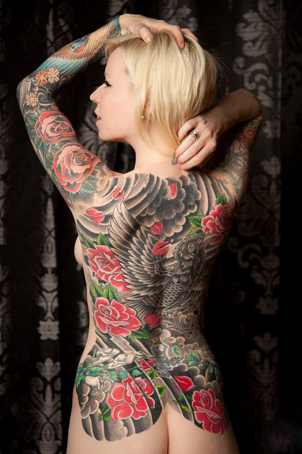 tattoo body Japanese female full
