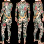 Full body Ghost japanese yakuza tattoo