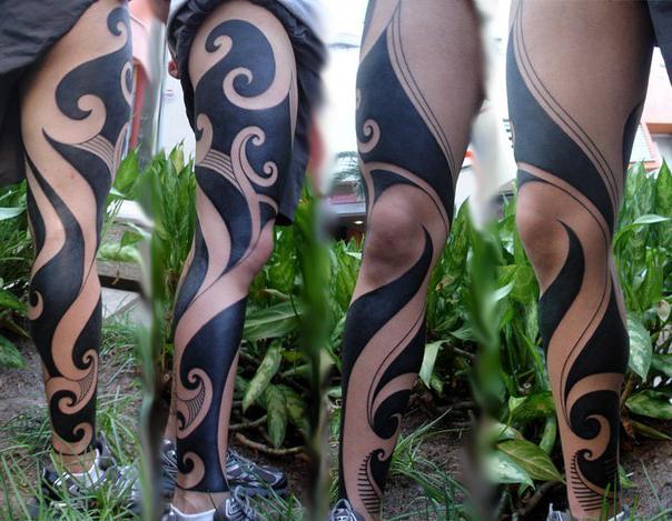 Full hand flames tribal tattoo