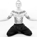 Full set tribal tattoo meditation