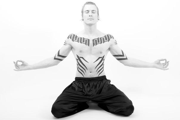 Full set tribal tattoo meditation
