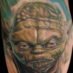 Furious Master Yoda Star Wars tattoo