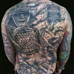 Ghost Warrior japanese tattoo Back