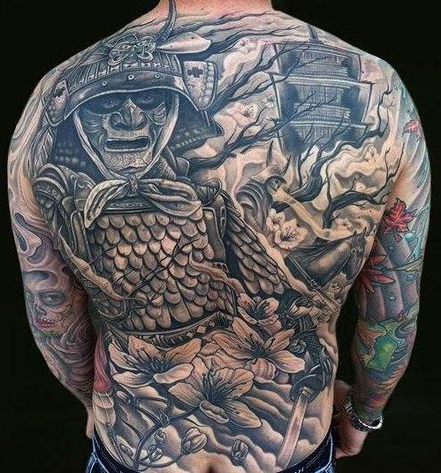 Ghost Warrior Japanese Tattoo Back Best Tattoo Ideas Gallery