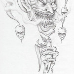 Goblin Evil Clown tattoo idea