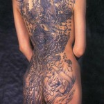 Gorgeous japanese tattoo for girl