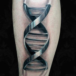 Graphic Metal DNA 3D tattoo
