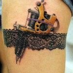 Garter Stocked Tattoo Machine 3D tattoo