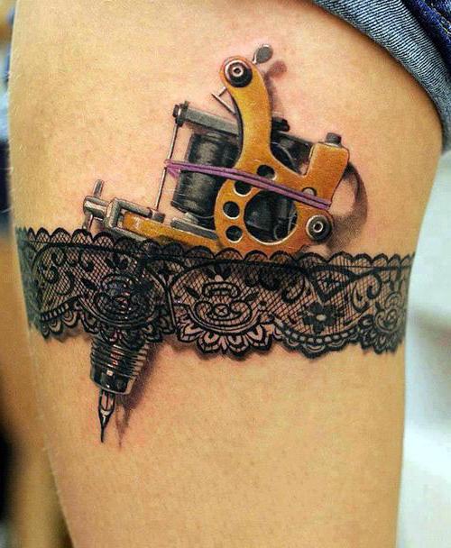 Garter Stocked Tattoo Machine 3d Tattoo Best Tattoo Ideas Gallery