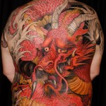 Guilty Red Dragon Full Back japanese tattoo