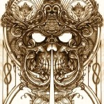Heaven Gate Guard Skull