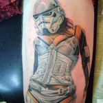 Hot Empire Trooper Star Wars tattoo