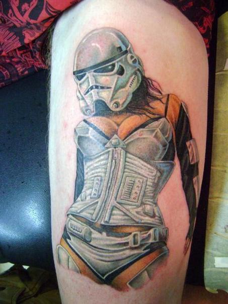 Hot Empire Trooper Star Wars tattoo