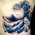 Huge Wave tattoo