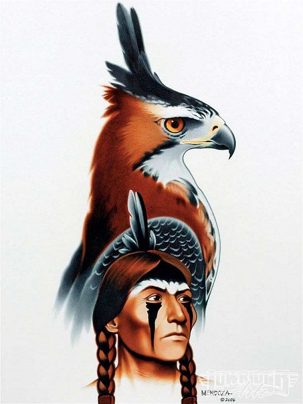 Indian Feather Bird tattoo