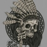 Indian Shaman Skull tattoo
