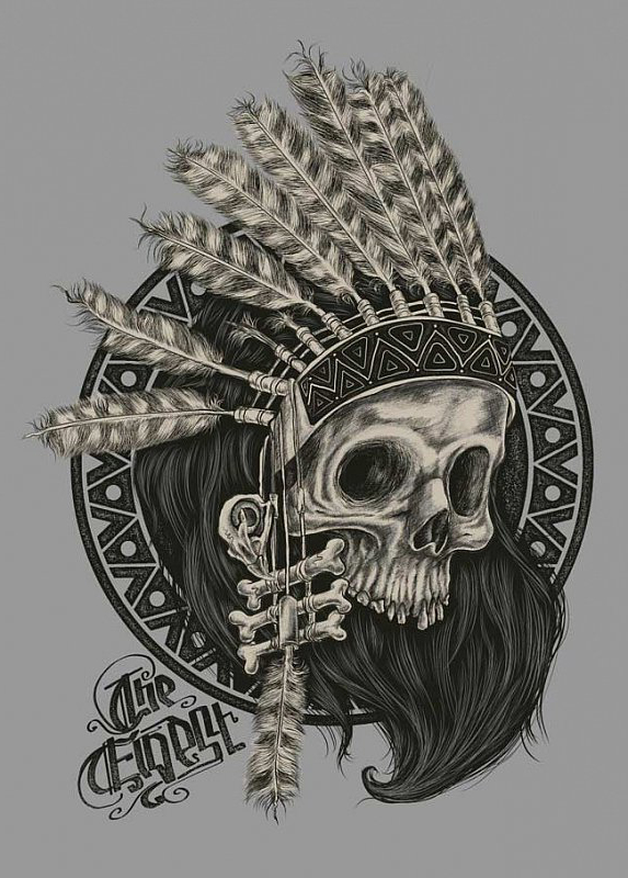 Indian Shaman Scull tattoo