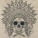 Indian Warrior Skull tattoo