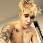 Justin Bieber tattoo on Shoulder
