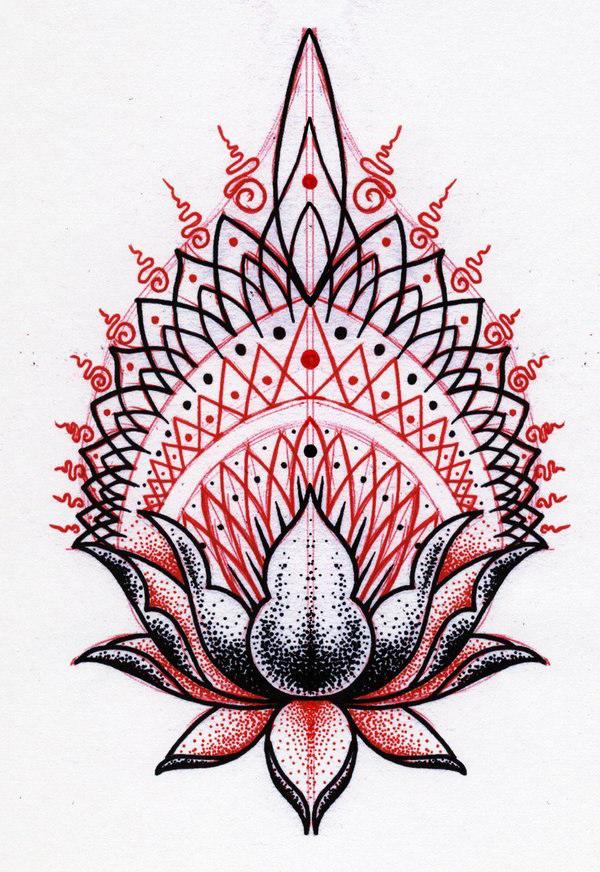 Krishna Lilly dotwork tattoo