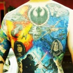 Light Side vs dark Side Star Wars tattoo