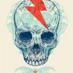 Lightning Star Skull tattoo