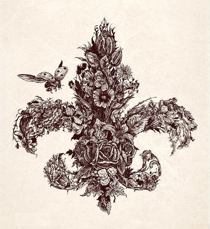 Lily Emblem tattoo flowers