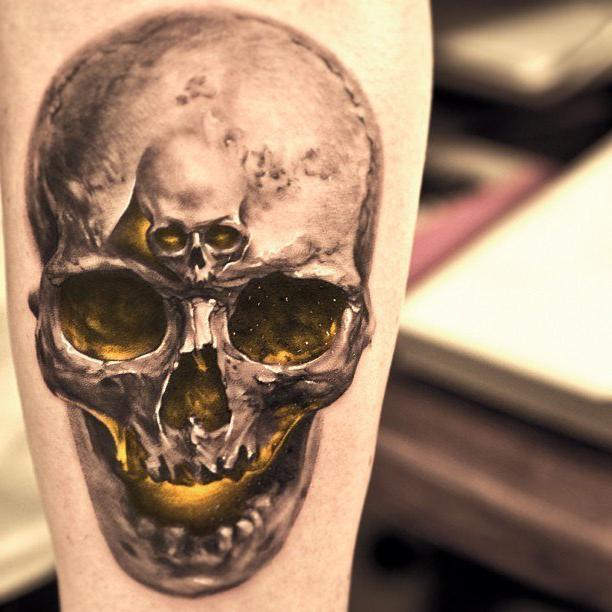 little big skull realistic tattoo best tattoo ideas gallery. Black Bedroom Furniture Sets. Home Design Ideas