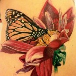 Macro Butterfly realistic tattoo