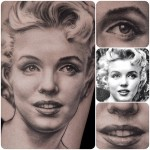 Marilyn Monroe realistic tattoo