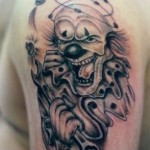 Mechanic Evil Clown tattoo