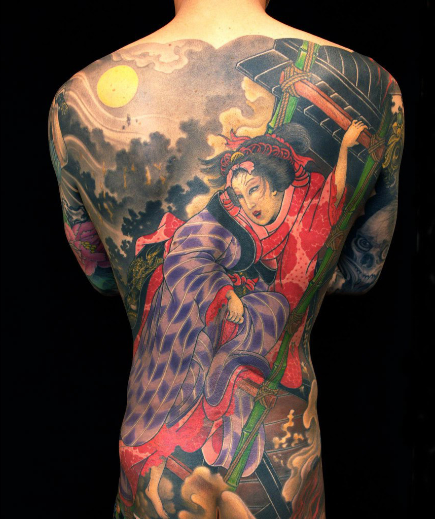 Native Composition japanese tattoo Full Back