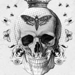 Nobel Black&White Skull