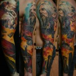 Nordic tattoo sleeve idea for men
