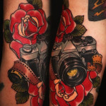 Old School Camera traditional tattoo