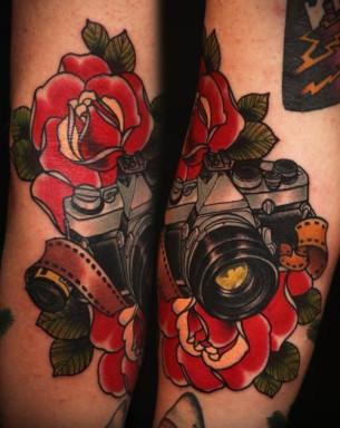 Old School Camera traditional tattoo