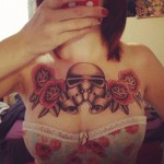 Old School Empire Troopper Helmet Star Wars tattoo