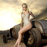 Sportcar Pin Up Girl tattoo
