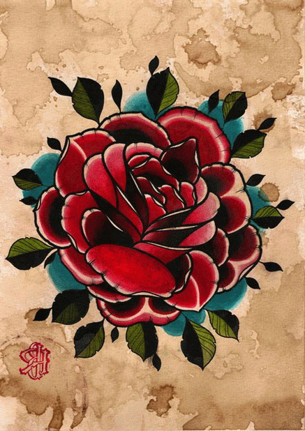 Old Paper Rose Drawing Tattoo Best Tattoo Ideas Gallery