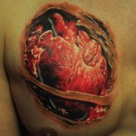 Open Hearted realistic tattoo organic style