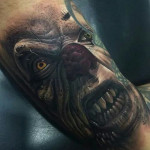 Orcish Look Evil Clown tattoo